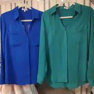 Bundle: Two Express Portofino Shirt Blouses